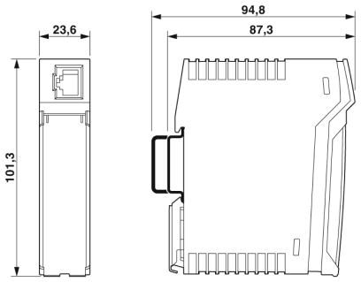 DIN Rail Patch Panel Dimensions