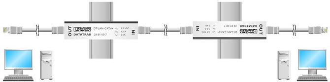 Data Line Surge Protector Application Diagram