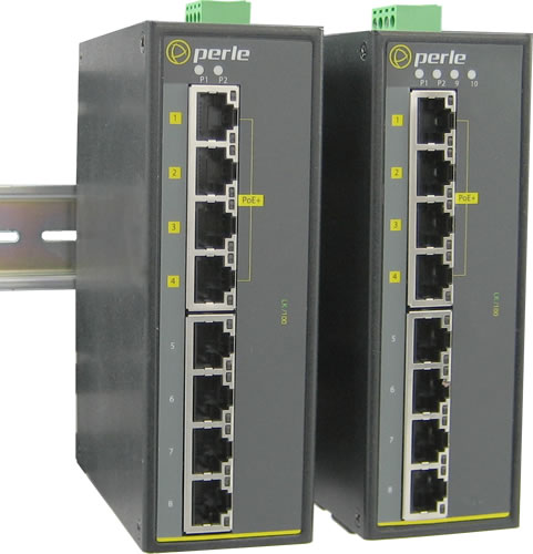 8 10 Port Industrial Poe Switch Ids 108fpp Perle