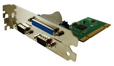 ch353 pci dual serial and parallel port