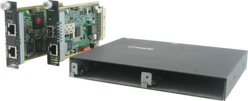 mcr200 media converter chassis 2 slot converter chassis perle